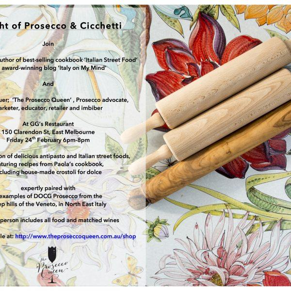 A night of Prosecco and Cicchetti