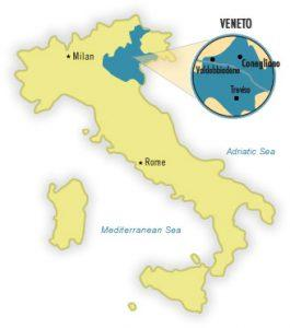 Prosecco Region Italy Map.An Introduction To Prosecco The Prosecco Queen
